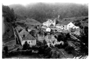 Foto del conjunto a finales del siglos XIX. Foto cedida por el Ayto. de Orbaizeta.