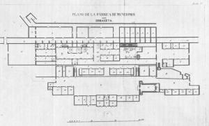 Planta de la Fábrica (Aurora Rabanal: Las Reales Fábricas de Eugui y Orbaizeta)