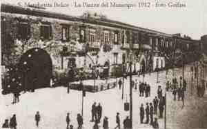 Fachada principal del Palacio de Santa Margherita a principios del SXX.